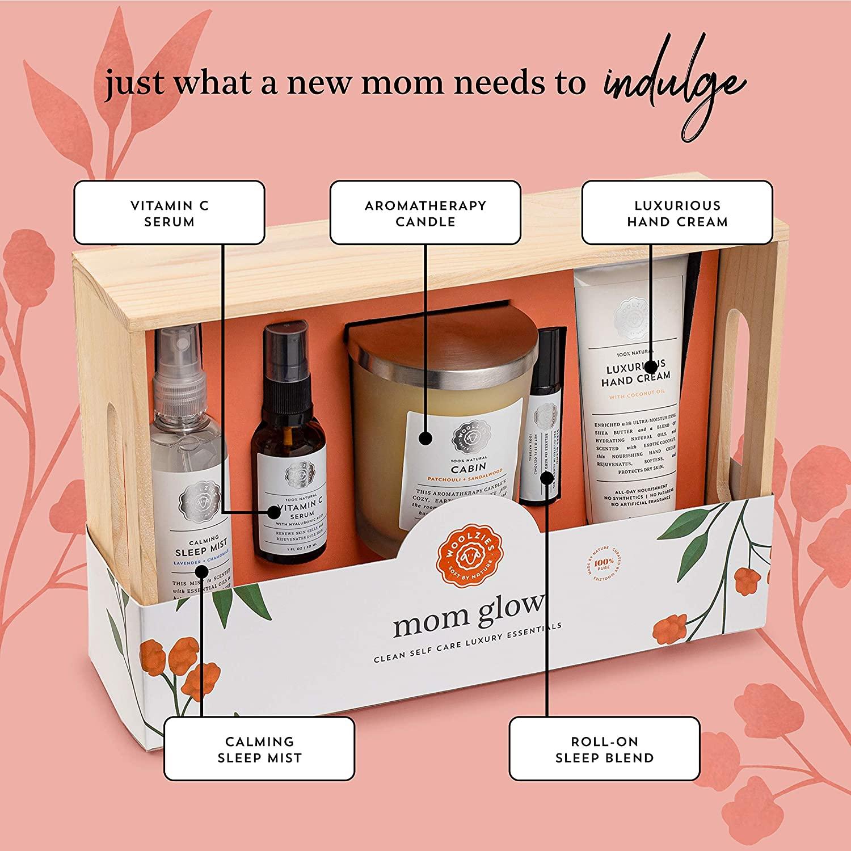 Caja de regalo con productos para mamá de Woolzies