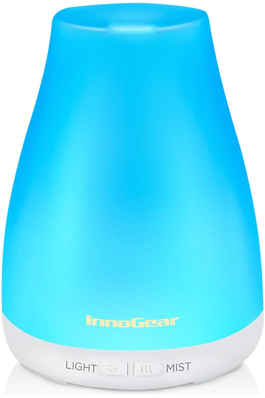Difusor de aceites esenciales de aromaterapia azul, 250 ml