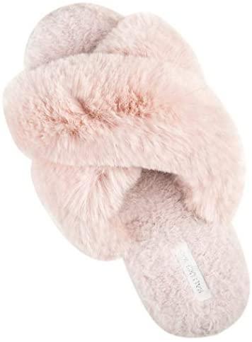 Pantuflas de Felpa Halluci color palo de rosa